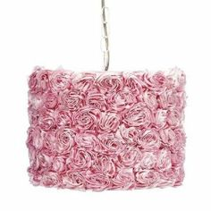 Jubilee Pink Rose Pendant Light by Jubilee. $356.00. For a little girls bedroom or nursery. Features pink rose drum shade. Features 1 25-watt light. Make a statement in your little girlÕs bedroom or nursery with this dramatic and elegant pink rose garden shade pendant light.