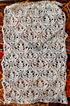 miracle design - Estonian lace pattern, recreated by Megan Mills (Ravelry) See info in blog at end of post