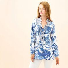 Aloha Tunic in Blue #kaycelilne #summer #floral