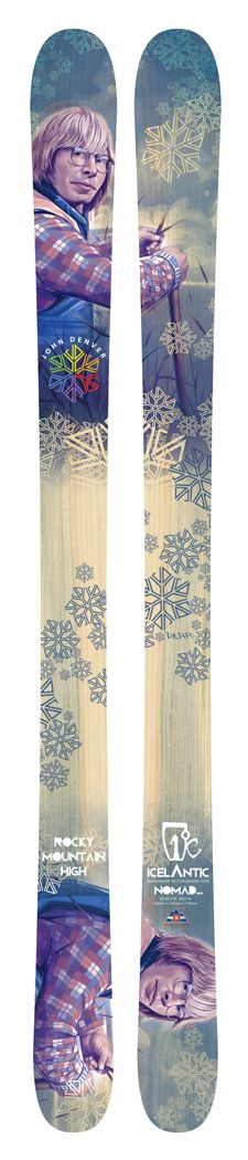 John Denver custom skis by Icelantic