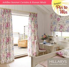 Achillea Summer Curtains & Roman blind  #Hillarys #PinItToWinIt