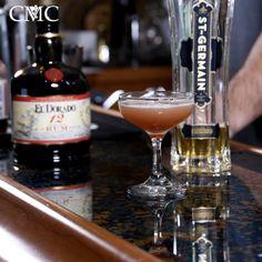 The Rum Flower 1 oz El Dorado 12 @drinkeldorado  1 oz St. Germain Elderflower Liqueur 1/2 oz Raspberry Simple Syrup @royalroseme  1/2 oz Fresh Lime Juice #rum #cocktails #elderflower #raspberry #recipe #alcohol