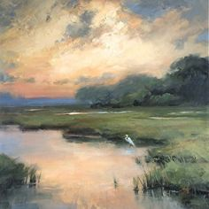 A #landscape #oilpainting by artist Jacki Newell. Found on the FASO Daily Art Show - http://dailyartshow.faso.com