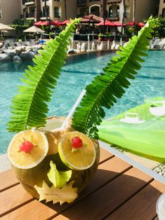It's always a happy day by the pool with this rum-filled pineapple at Villa del Palmar Flamingos! Happy Day, Rum, Pineapple, Villa, Coconut, Pinecone, Villas, Rome