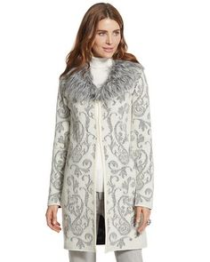 Chico's Icy Fur Elsa Cardigan $159 -->> $147.39 with 7.3% VIP Savings on every Chico's purchase online -- #GetCashBackForever - http://www.GetCashBackForever.com