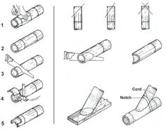 Cutting Bamboo: This Site has some very useful diagrammatic information about working with Bamboo