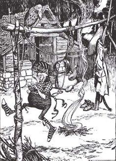 'Rumpelstiltskin' in The Fairy Tales of the Brothers Grimm. Illustrated by Arthur Rackham,