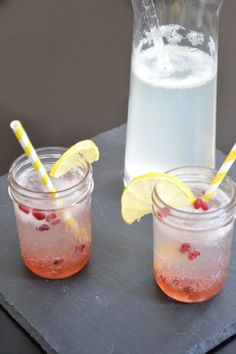 Pomegranate Lemonade Spritzer: We don't care if pomegranates are technically a winter fruit.