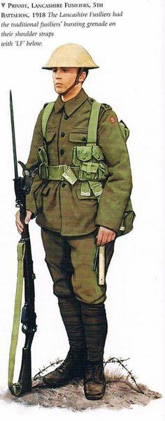 BRITISH ARMY - Private, Lancashire Fusiliers, 5th Battalion, 1918