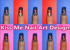 Kiss Me Nail Art Design