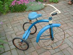 1950's AMF Junior Tricycle In as bad shape as the one I played on at Grandma's - no tread on front tire