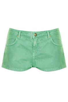 MOTO Green Denim Daisy Hotpants £22