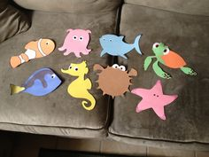 Finding Nemo!!!- Create creatures and write the names of people on them