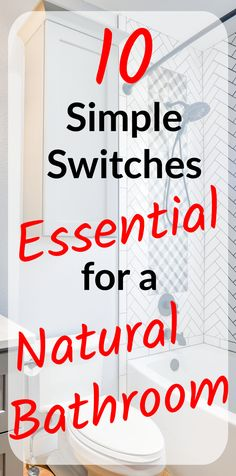 Realistic bathroom product swaps for a natural household. Homemade House Cleaners, Natural Cleaning Products, Natural Products, Natural Bathroom, Going Natural, Healthier You, Natural Living, I Got This, Clean House