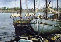 Kurseev Vjacheslav (oil on canvas) Boat Art, Sailing Ships, Oil On Canvas, Boats, Waves, Illustration, Artist, Painting, Watercolour