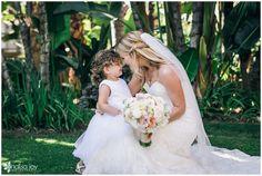 Wedding: Justin & Sarah // San Diego Yacht Club, San Diego, CA » Analisa Joy Photography // Bride & Flower Girl