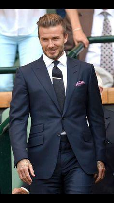 David Beckham Suit | #MensFashion #MensHair