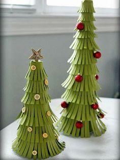 DIY Pretty Paper Christmas Tree DIY Christmas trees Christmas Decorations Christmas Decorating Ideas