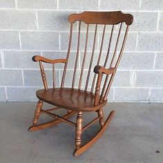 S. BENT BROTHERS MAPLE ROCKING CHAIR/ROCKER WINDSOR/BOSTON STYLE BENTWOOD
