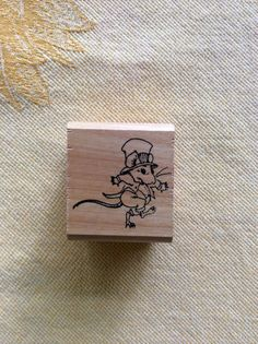 Cyndy Szekeres Mouse with Top Hat for Kidstamps Rubber Stamps