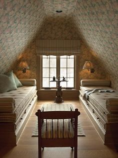 attic bathrooms with sloped ceilings | Shabby Chic Guest Room | HGTV