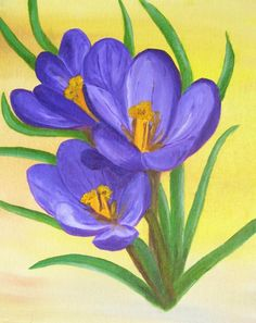 Crocuses by Elizabeth Janus