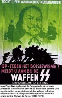 A Waffen-SS recruitment poster encouraging Dutch citizens to join the Waffen-SS and fight Communism.