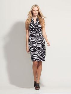 Our new Zebra wrap dress - take safari to the next level.
