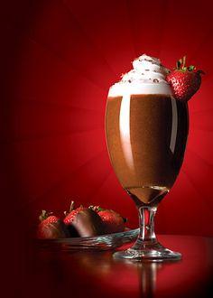 Chocolate Strawberry #Frappe