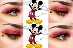 Mickey mouse inspired eye makeup - Make up - Disney Eye Makeup, Disney Inspired Makeup, Eye Makeup Art, Smokey Eye Makeup, Cute Makeup, Makeup Geek, Beauty Makeup, Makeup Eraser, Smoky Eye