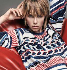 Edie Campbell by Iango Henzi and Luigi Murenu for Vogue Japan April 2016