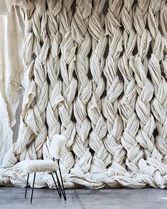 large woven wall
