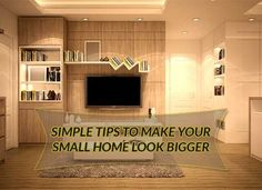 Simple tips to make your small home look bigger Studio Apartments, Real Estate Services, Home Look, Real Estate Marketing, Make It Yourself, Live, Space, Simple, Blog