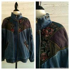 Vintage Jean Jacket  1980s Jean Jacket with by runaroundsuevintage, $35.00