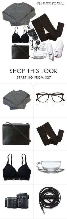 """""""layers"""" by sushilover8 ❤ liked on Polyvore featuring American Apparel, Loeffler Randall, Illesteva, BCBGMAXAZRIA, Aerie, Nikon, Urbanears, Forever 21, contest and layers"""