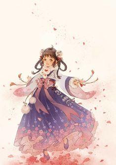Legenda Pendekar Naga in 2020 Kimono Animé, Anime Kimono, Anime Chibi, Manga Anime, China Art, Female Character Design, Anime Hair, Cute Chibi, Anime Angel