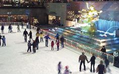 Ice Skating at Rockafeller at Christmas