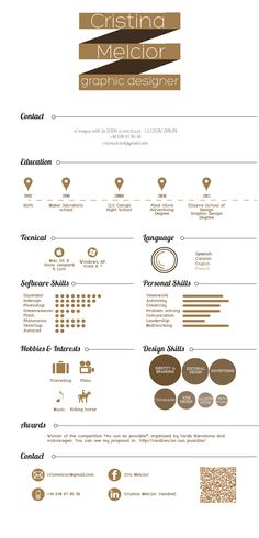Curriculum Vitae by Cristina Melcior, via Behance