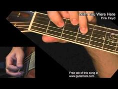 """""""Wish You Were Here"""" (Pink Floyd): Guitar intro and solo + TAB by GuitarNick Guitar Tips, Guitar Songs, Guitar Chords, Acoustic Guitar, Music Lessons, Guitar Lessons, Guitar Instructor, Music Tabs, Guitar Chord Chart"""