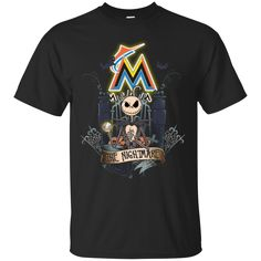 Halloween Miami Marlins T shirts The Nightmare Hoodies Sweatshirts