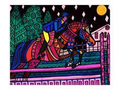 The Jessie Rose Horse Art Poster Print of by HeatherGallerArt