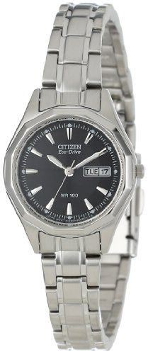 Citizen Womens EW314051E EcoDrive Stainless Steel Sport Watch ** For more information, visit image link.