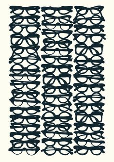 I am now a MASSIVE fan of glasses :) I can see again! Need this print for my library!!