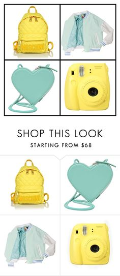 """""""complementary colors"""" by kawaiikat08 ❤ liked on Polyvore featuring Moschino, Christopher Kane and Fujifilm"""