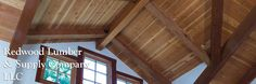 Redwood Timbers in Roofing