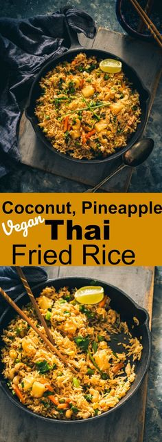 Vegan Coconut, Pineapple Thai Fried Rice (Christmas Recipes Sides)