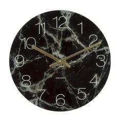 Väggklocka - Karlsson Glass Marble Medium Black