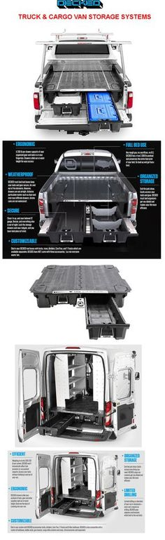 Check out our DECKED Truck & Cargo Van Storage Systems. #truckbed storage #trucktoolbox #toolbox #decked #deckedstoragesystem