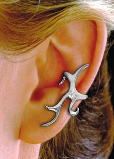 TATTOO EAR CUFF sterling silver by EarCharms on Etsy, $39.00