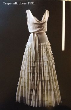 Crepe silk dress by Madeleine Vionnet, 1931
